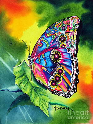 Poster featuring the painting Beatrice Butterfly by Maria Barry