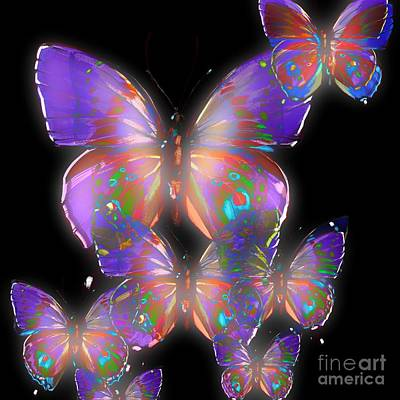 Beauty Of Butterflies Poster by Gayle Price Thomas