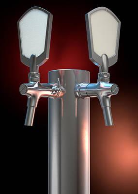 Beer Tap Dual Dark Poster by Allan Swart