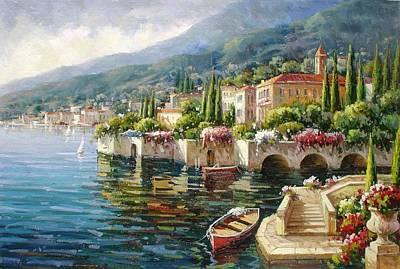 Bellagio, Lago Di Como Poster by Lucio Campana