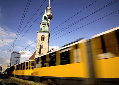 Berlin Tram Poster by David Harding