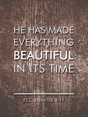 Bible Verses Art - Ecclesiates 3 11 Poster