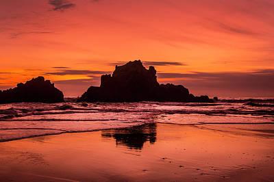 Big Sur Sunset Poster