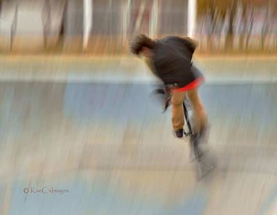 Poster featuring the photograph Biking  The Skateboard Park 4 by Kae Cheatham