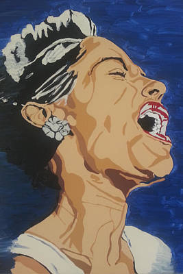 Poster featuring the painting Billie Holiday by Rachel Natalie Rawlins