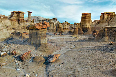 Poster featuring the photograph Bisti Wilderness Hoodoos by Alan Toepfer