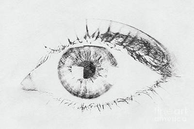 Black And White Woman Eye Poster