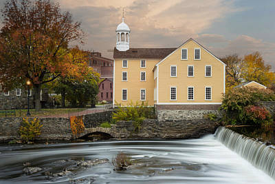 Blackstone River Mill Poster by Robin-Lee Vieira