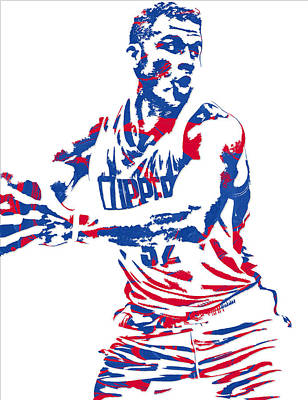 Blake Griffin Los Angeles Clippers Pixel Art 4 Poster