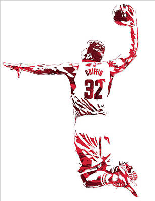Blake Griffin Los Angeles Clippers Pixel Art 5 Poster