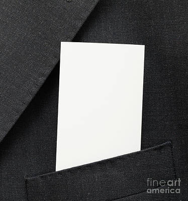 Blank Business Card Poster by Shaun Wilkinson