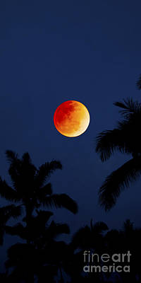 Blood Moon In Hawaii  - Triptych   Part 1of 3 Poster