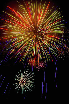 Blooming Fireworks Poster