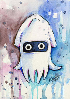 Blooper Watercolor Poster