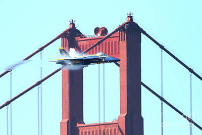 Blue Angels Crossing The Golden Gate Bridge 5 Poster by Wingsdomain Art and Photography