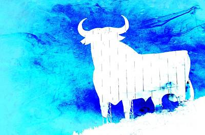 Blue Poster by Clare Bevan