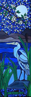 Blue Heron Poster by Rachel Olynuk