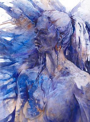 Blue Lady Poster by Joan  Jones