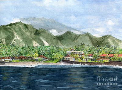 Poster featuring the painting Blue Lagoon Bali Indonesia by Melly Terpening
