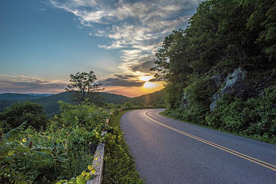 Blue Ridge Parkway Morning Sun Poster