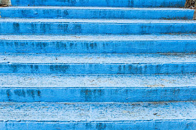 Blue Steps Poster by Tom Gowanlock
