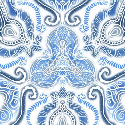 Blue Symetry Poster
