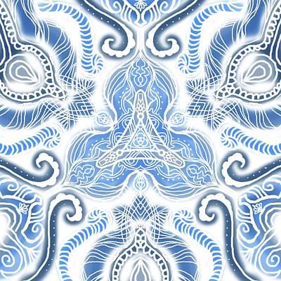 Blue Symetry Poster by Sandrine Kespi