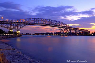 Bluewater Bridge At Sunset Poster