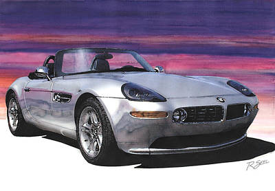 Bmw Z8 Poster by Rod Seel