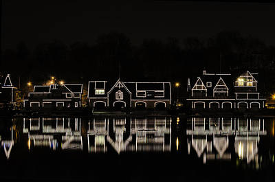 Boathouse Row - Philadelphia Poster by Brendan Reals