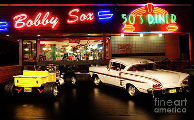 Bobby Sox 50's Diner Poster by Bob Christopher