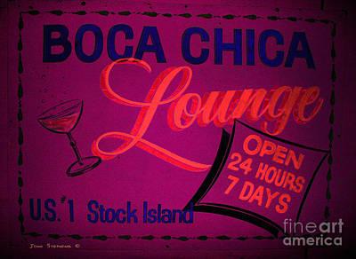 Boca Chica Lounge Sign Stock Island Florida Keys Poster by John Stephens