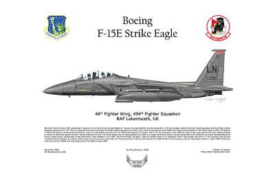 Boeing F-15e Strike Eagle Poster