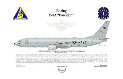 Boeing P-8a Poseidon Vp-10 Poster
