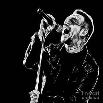 Bono U2 Collection Poster by Marvin Blaine
