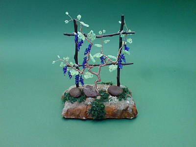 Bonsai Wire Tree Sculpture Beaded Vineyard      Poster by Bujas Sinisa
