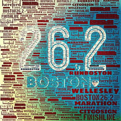 Boston Marathon Poster by Brandi Fitzgerald