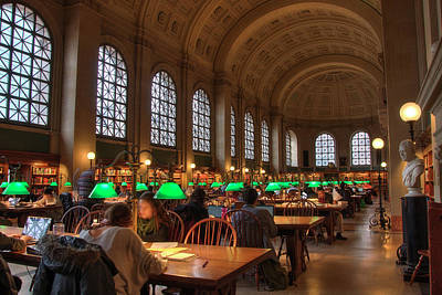 Poster featuring the photograph Boston Public Library by Joann Vitali
