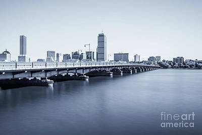Boston Skyline Harvard Bridge Back Bay Photo Poster by Paul Velgos