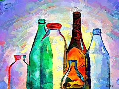 Bottled Up Poster by Wayne Pascall