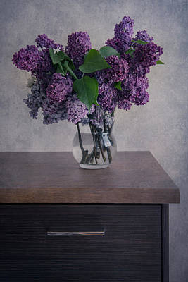 Poster featuring the photograph Bouquet Of Fresh Lilacs by Jaroslaw Blaminsky
