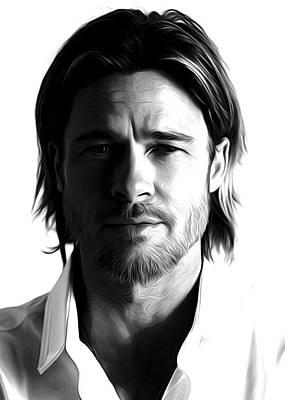 Brad Pitt Art Poster by Best Actors