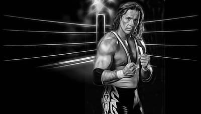 Bret Hart The Hitman Wrestling Collection Poster by Marvin Blaine