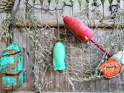 Bright Buoys II Poster by Marianne Campolongo