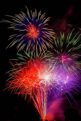 Bright Fireworks Poster