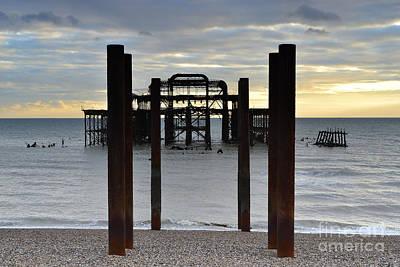 Brighton West Pier Poster by Nichola Denny