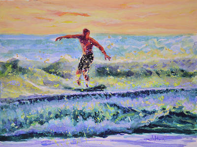 Brilliant Morning Surf Poster