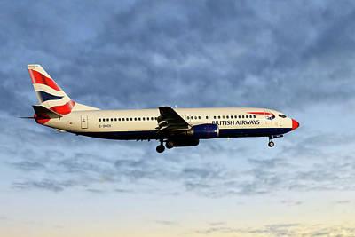 British Airways Boeing 737-436 Poster