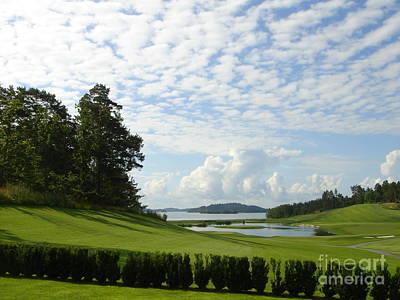 Bro Hof Slott Golf Club Sweden Poster by Jan Daniels