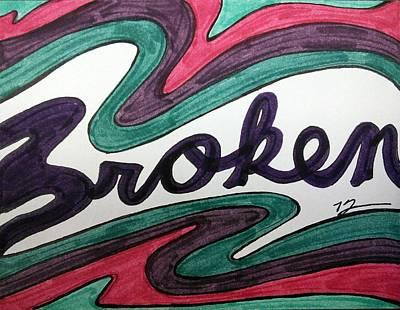 Broken Poster by Kat Haus Designs